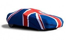 Car Cover with Union Jack motive (small)