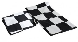 "Sciarpa in seta ""Chequered flag"""