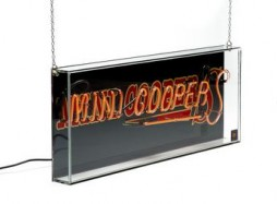 Neon sign with lettering MINI COOPER S