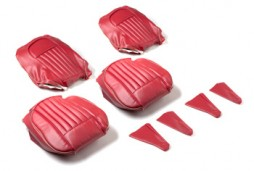 Completely original: seat covers red with silver piping