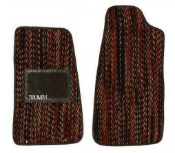 Period original: Set of sisal/coco floormats for TR7 LHD